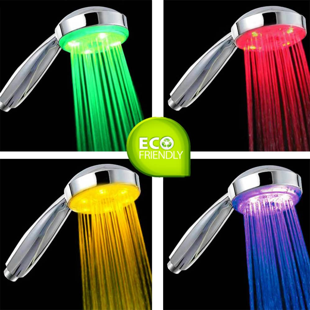 home homeware bathroom accessories led shower head 7 colour disco