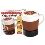 Coffee Magic Mug Instant Milk Frothing Frother Latte Espresso Hot Cup Gift