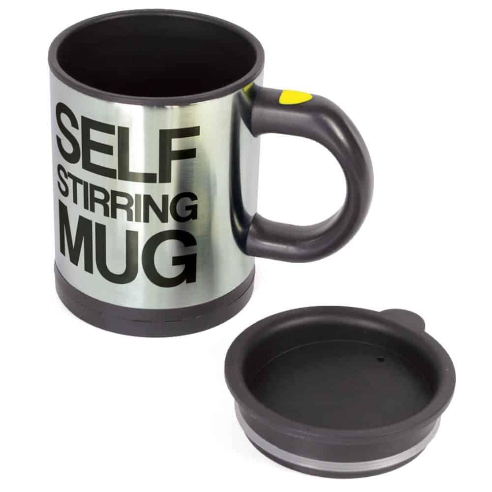self stirring mug plain lazy mug auto stir cup top kitchen gadgets homeware cooking gizmos. Black Bedroom Furniture Sets. Home Design Ideas