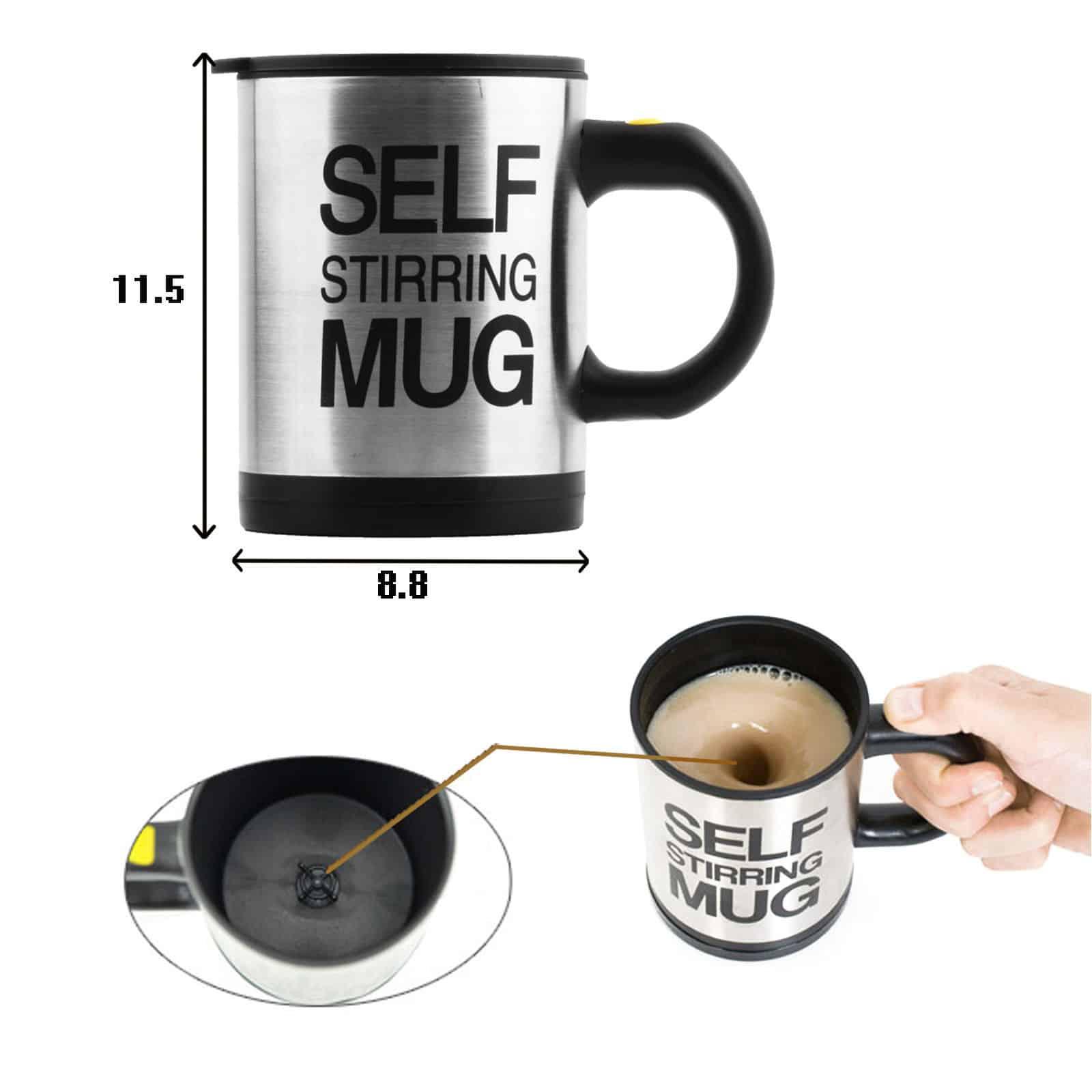 Self Stirring Mug Plain Lazy Mug Auto Stir Cup Top
